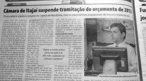 Diarinho publicou a trapalhada, descoberta por vereador cego