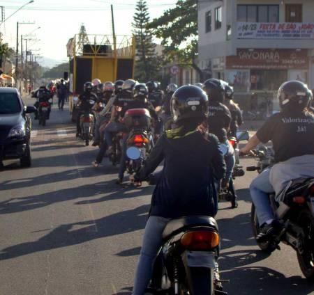 A galera das motos também participou!