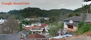 Vista do Google StreetView de onde foram tiradas as fotos recentes que estão mais abaixo