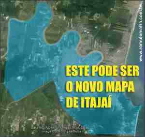 mapa novo itajai zona rural