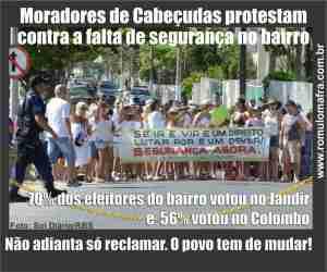 cabeçudas protesto