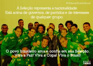 dilma seleção brasileira copa 2014